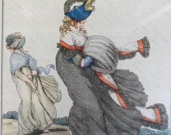 Original antique fashion illustration 1
