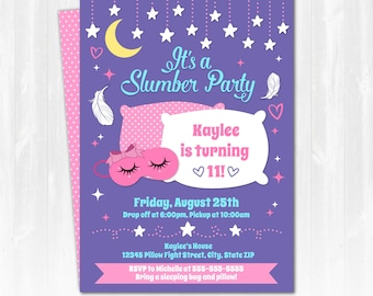 Slumber Party Invitations - Slumber Party Ideas - Slumber Party Invite - INSTANT DOWNLOAD - Edit NOW with Adobe Reader! Arctic Party