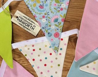Handmade fabric 'Spring' Bunting