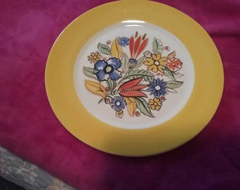 Triumph Lomeges Bermuda Yellow Floral Dinner Plate