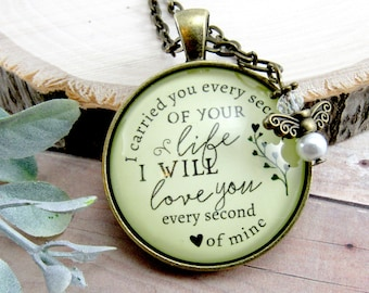 I Carried You Every Second of Your Life Miscarriage Necklace Baby Loss Angel Charm Remembrance Memory Of Keepsake Gift For Her in Memory