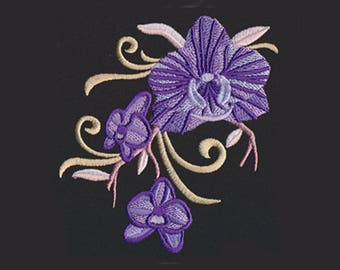 Orchids Tea Towel | Embroidered Kitchen Towel | Kitchen Towel | Personalized Kitchen | Personalized Kitchen Gifts | Orchid Gift | Home Decor