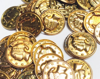Metal Coin Charms - 100 Pieces - #305