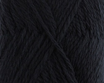 Snow Blossom Wool Yarn 2 x 100 gram Skeins Black
