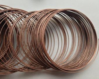 120 bracelet memory wire metal steel ~55/0,7mm bronze copper rounds