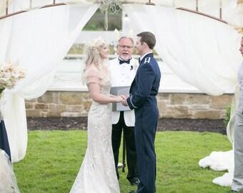 Retro Glamour Wedding Veil w/ Detachable Hair Fascinator