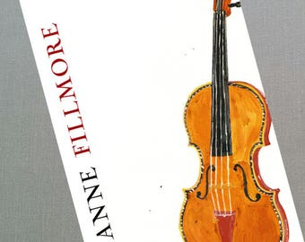 Violin Business Card, Set of 50