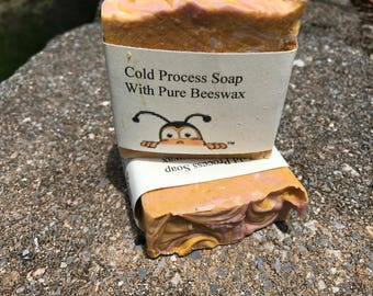 Lily and Rain Cold Process Soap with Pure beeswax