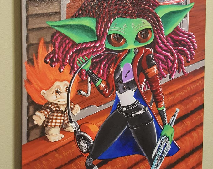"""Some Unspoken Thing - 16x20"""" Repro on Canvas - Inspired by Gamora from Guardians of the Galaxy – MuseArt"""