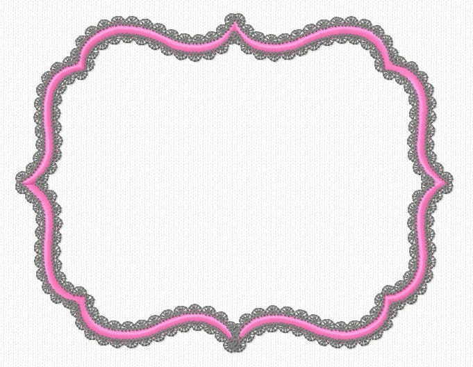 Frame embroidery design applique machine