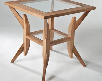 Stanstead end table in curly maple