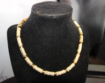 NAPIER - Absolutely gorgeous gold Napier Choker  from the 1950's - Signed