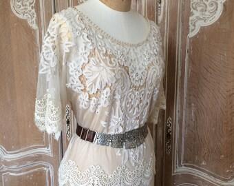 Antique Lace Wedding Dress 1920s