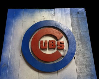 Chicago Cubs 14x14 Pallet Logo