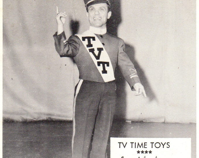 TV Time Toys TV Tommy TV Rare Publicity Photo Card 1960's
