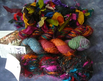DARN GOOD YARN Assortment of Yarns - Silks, Banana Silk, etc - Your Choice! Sale