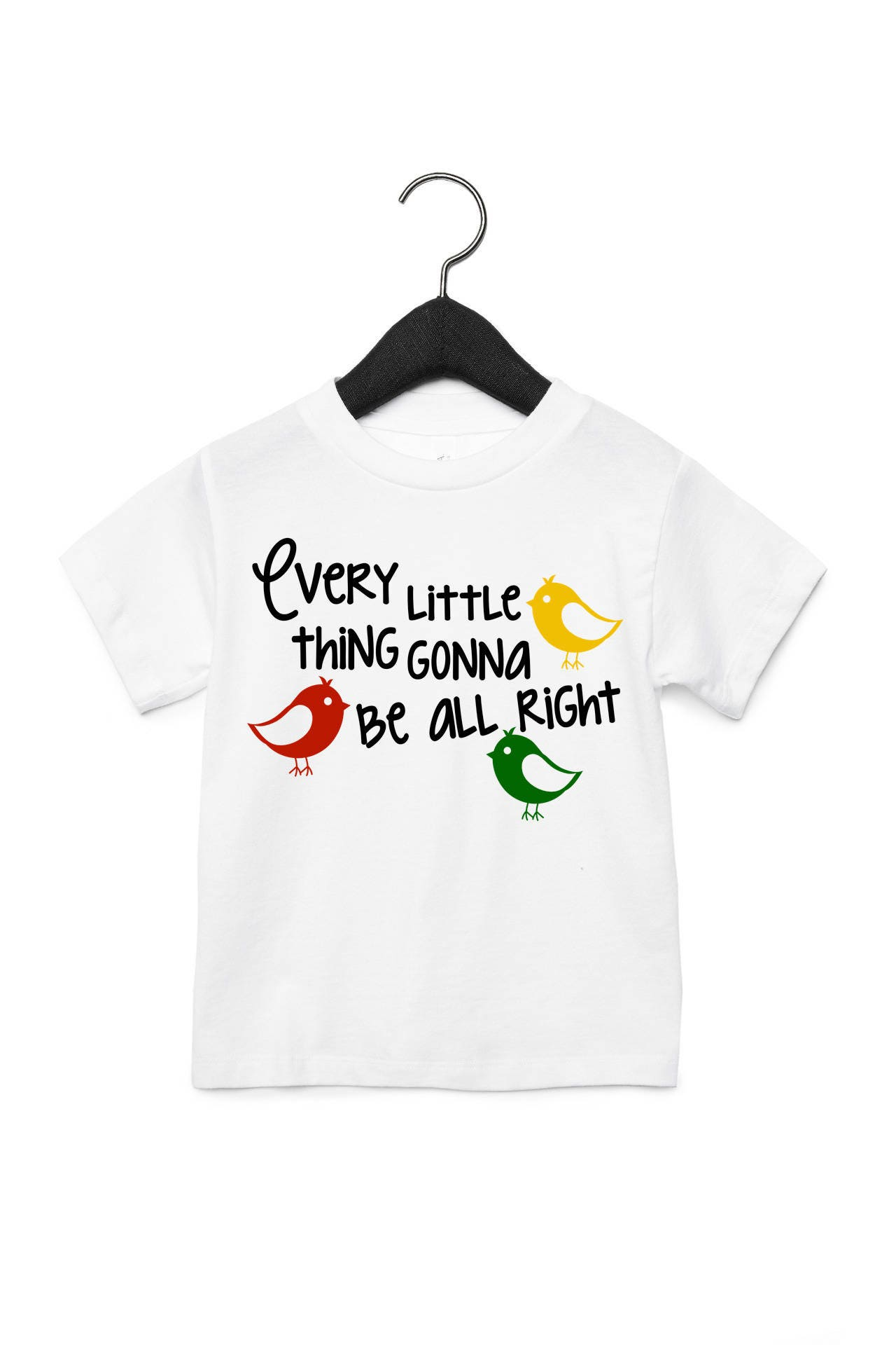 Three Little Birds T shirt Baby Clothes Rasta Clothing Red