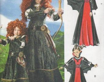BRAVE'S Disney PRINCESS MERIDIA McCall's Costumes Pattern 6817 Child/Girls' Sizes 3-4 5-6 7-8