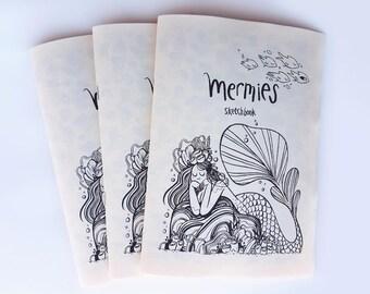 Mermie Sketchbook ZINE Mermaid Illustration