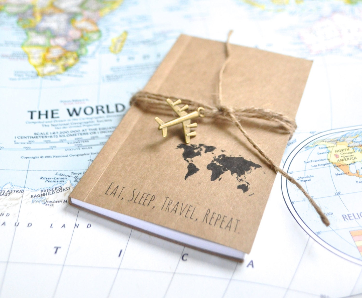 Travelers Notebook Travel Gift Writing Journal Travel Map