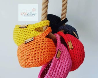 MINI Handmade Crochet Hanging Basket | Hanging Pod | Storage Pod
