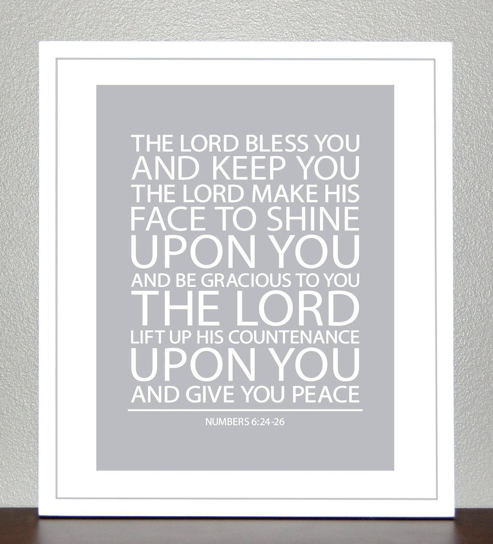 Taufe Geschenk Bibel-Vers Nummern 6 bis 8 x 10 Print
