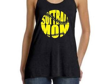 Softball Mom Tank, Team Mom Baseball, Softball Mom, Baseball Shirt, Softball Tank, Funny Baseball, Tee Ball, Softball, Softball Tee