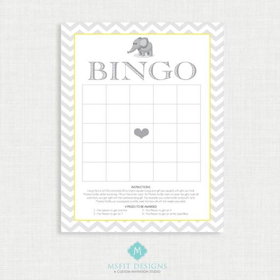 Printable Baby Shower Bingo -Baby Shower Games - Bingo - Shower Games - Instant Download