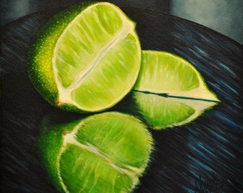 Lime Reflection Acrylic Painting by Michelle C East