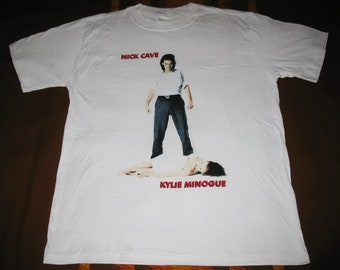 1995 NICK CAVE Kylie Minogue Where The Wild Roses Grow Vintage T-shirt