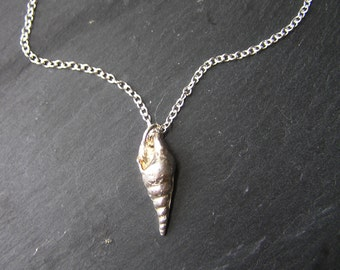Solid Silver Seashell Necklace