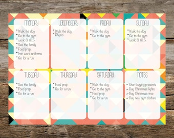 Notepad (A4) weekly planner pad, day planner, printed desk pad, to do list, planner, easy tear pad, business pad, office notepad/planner