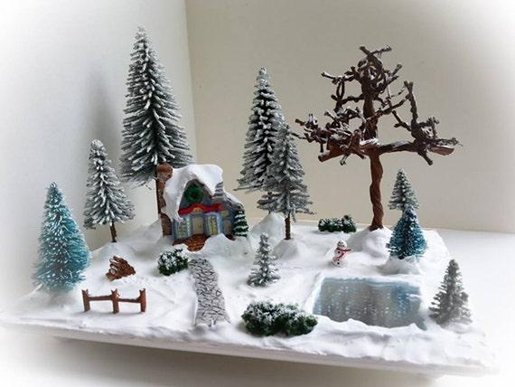 Miniature Christmas Village Scene Miniature Christmas