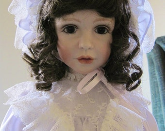Modern Porcelain Doll - Kallie by Jane Zidjunas-handmade exquisite doll gorgeous face & dressing.