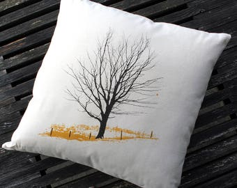 Winter Farm Pillow