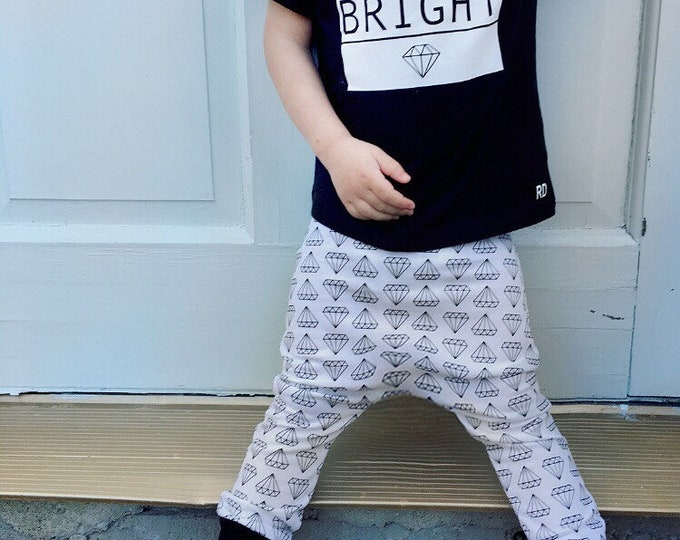 "Featured listing image: Monochrome ""Shine Bright"" Diamond Harem Pants"