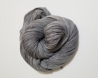 Slate Grey, Hand Dyed Yarn, Sock Yarn, Merino, Nylon, Dye to Order,