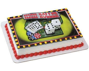 Casino Night Out Cake Topper
