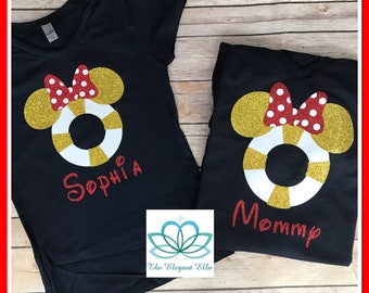 Disney cruise shirt, Mickey and Minnie ears tube, family Disney vacation shirts
