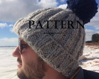The Harbor Pattern (Ribbed Knit Beanie)