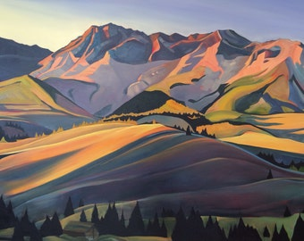 The Boulder Front - giclee print on paper or canvas