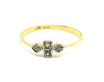 Antique Edwardian Diamond Ring | 18ct Diamond Ring | 18ct Gold Ring | Platinum Diamond Ring | Dainty Diamond Ring | Delicate Diamond Ring