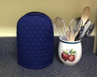 Navy Blue Can Opener Cover Quilted Fabric Small Kitchen Appliance Cover Ready to Ship
