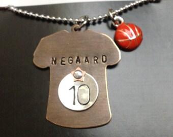 Basketball Player Mom/Girlfriend Necklace Ball Charm Basketball Jewelry