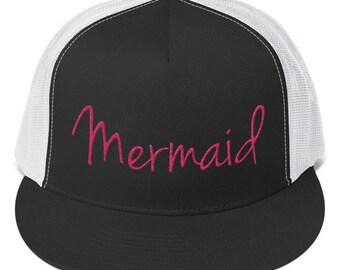 Cap. Mermaid Snapback Hat. Trucker Hat. Cape