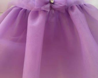 Purple tutu, tulle skirt for baby