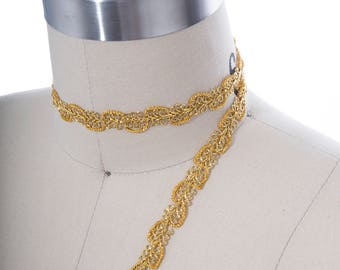 2 Yards Gold Gimp Trim/ Elegant Traditional Style/ Dress Up the Simplest Design/ Perfect Hue of Gold for a Wonderfully Coordinated Creation.
