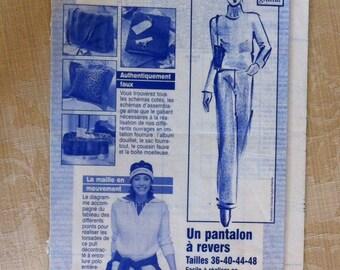 pants pattern has reverse size 36,40,44,48 women