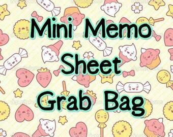 Mini kawaii memo sheet grab bag super cute!