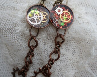 Timely Affair - Resin Steampunk Earring Set